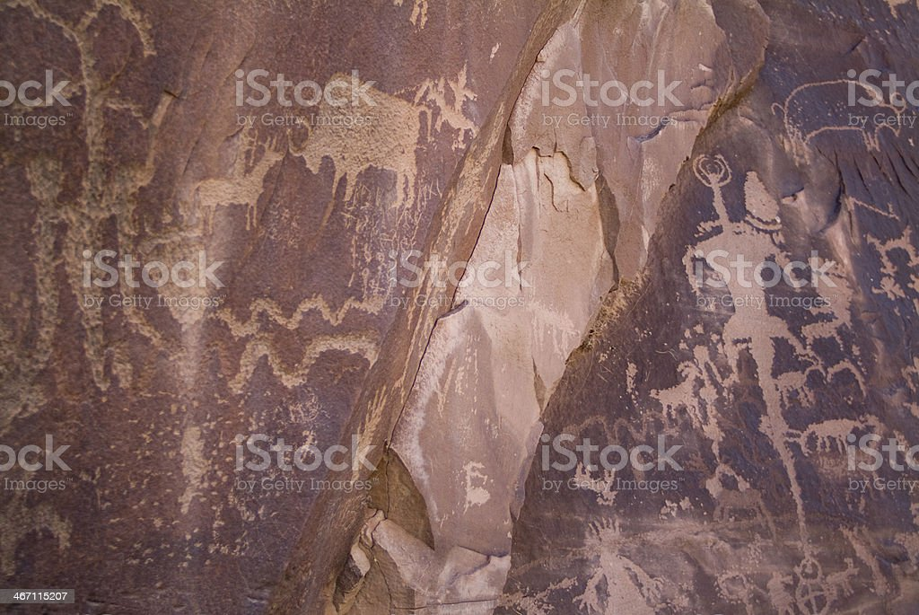 Petroglyphs of the Southwest Canyonlands National Park Needles District Utah royalty-free stock photo
