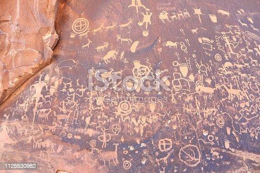 istock Petroglyphs on Newspaper Rock at Utah 1125530982