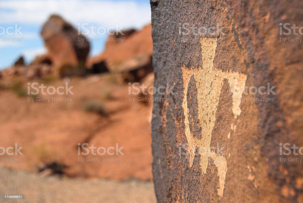 Petroglyphs (Native Americans) royalty-free stock photo