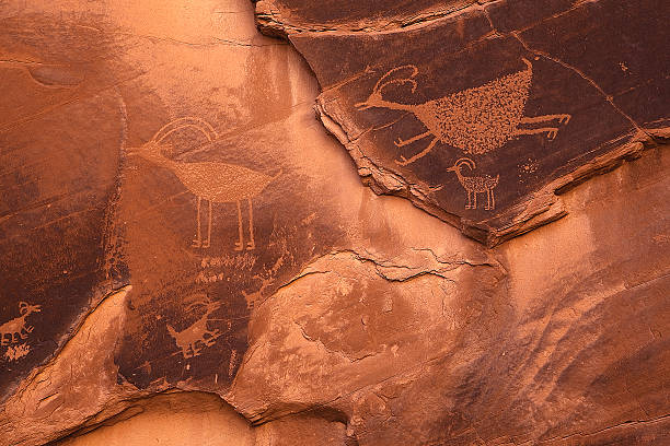 Petroglyphs stock photo