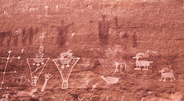 petroglyphs - hopi stock photos and pictures