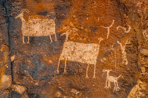 Petroglyphs, Anasazi Reserve, Ivins, Utah.rock art
