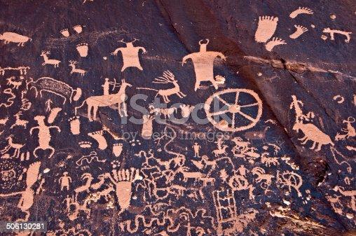 Petroglyths of Newspaper rock, Canyonlands, Utah, USA