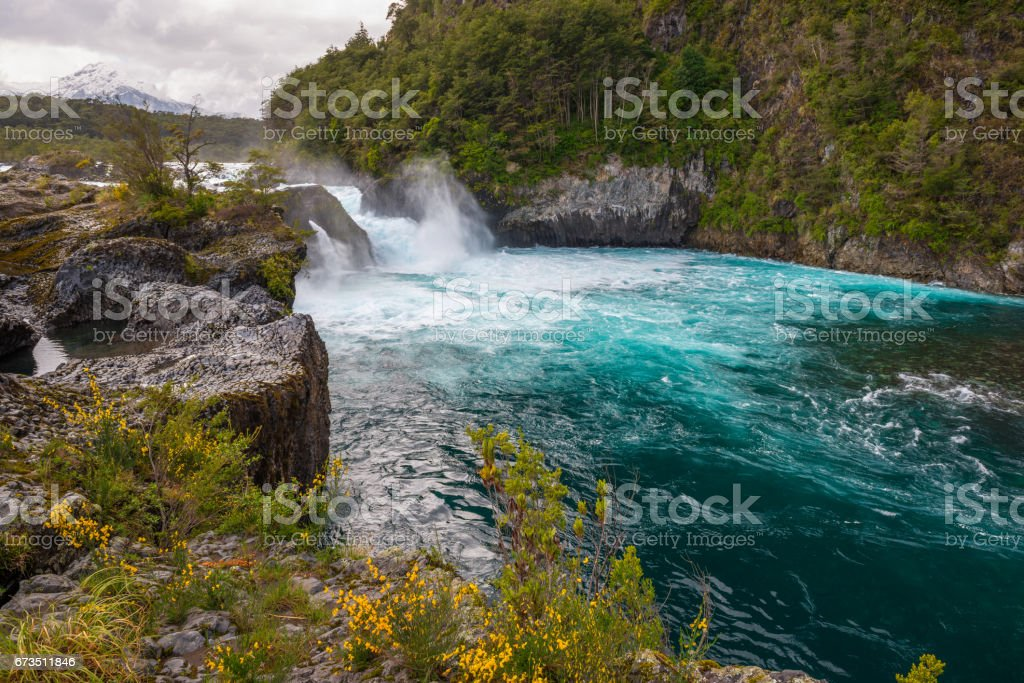 Petrohue Falls stock photo