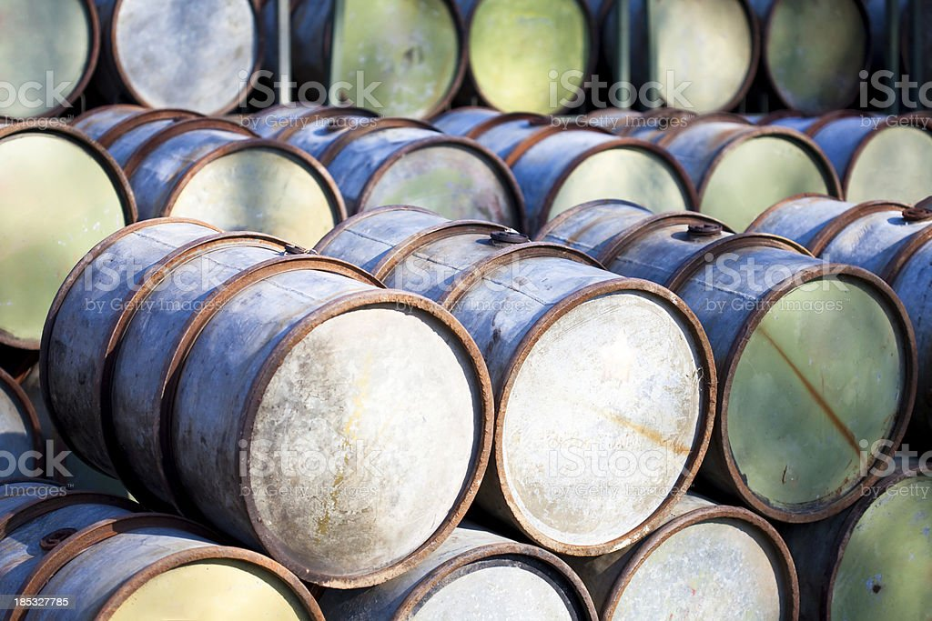 petrol barrels stock photo