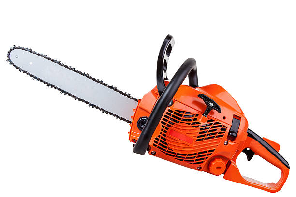 petrol chain saw - chainsaw stock photos and pictures