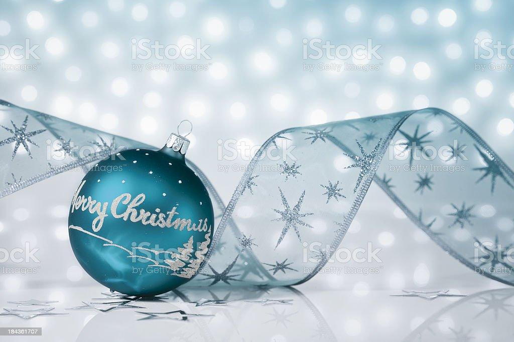 Petrol Christmas Bauble royalty-free stock photo