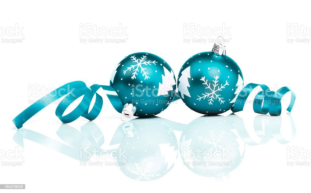 Petrol Christmas Baubles royalty-free stock photo