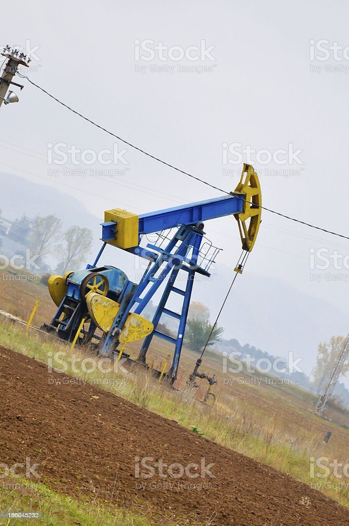 petrol drilling plant royalty-free stock photo