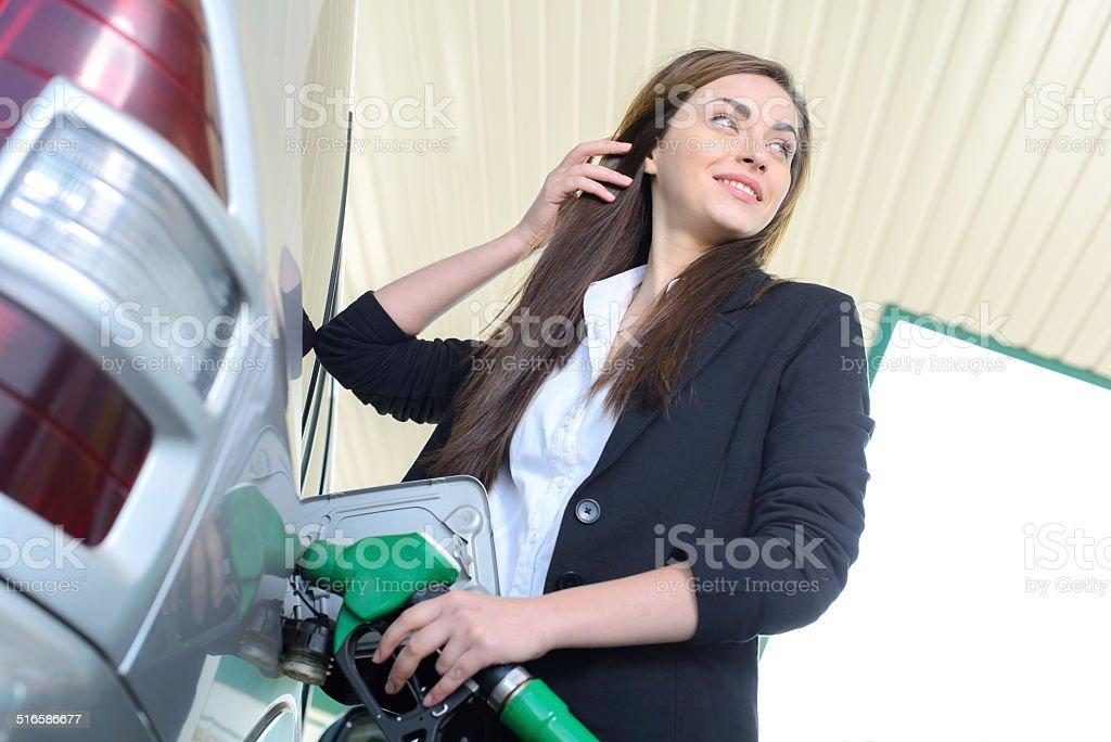 Petrol filling station stock photo