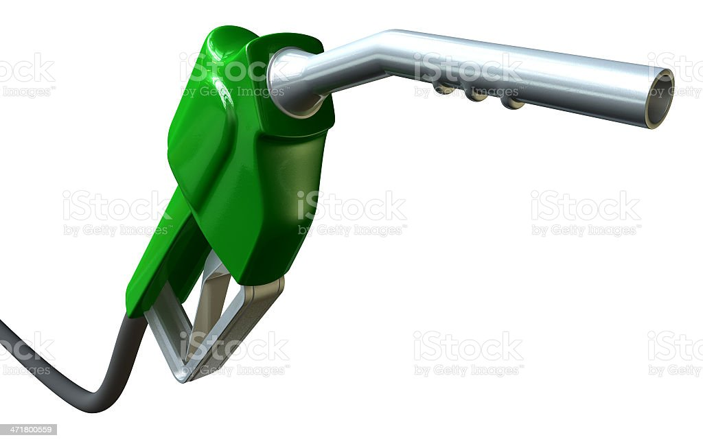 Petrol Handle And Nozzle Perspective royalty-free stock photo
