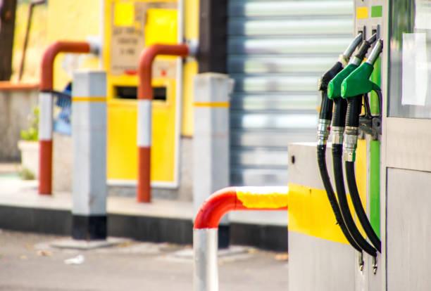Petrol Pumps - foto stock