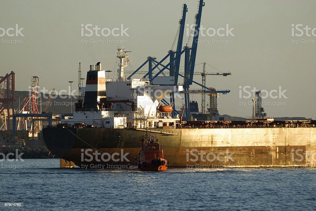 Petrol ship royalty-free stock photo