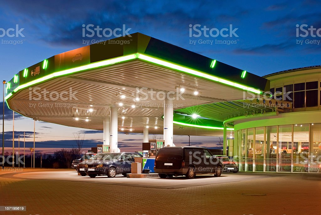 Petrol station stock photo