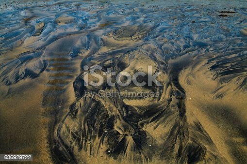 Oil background taken in a famous Icelandic lagoon during summer season