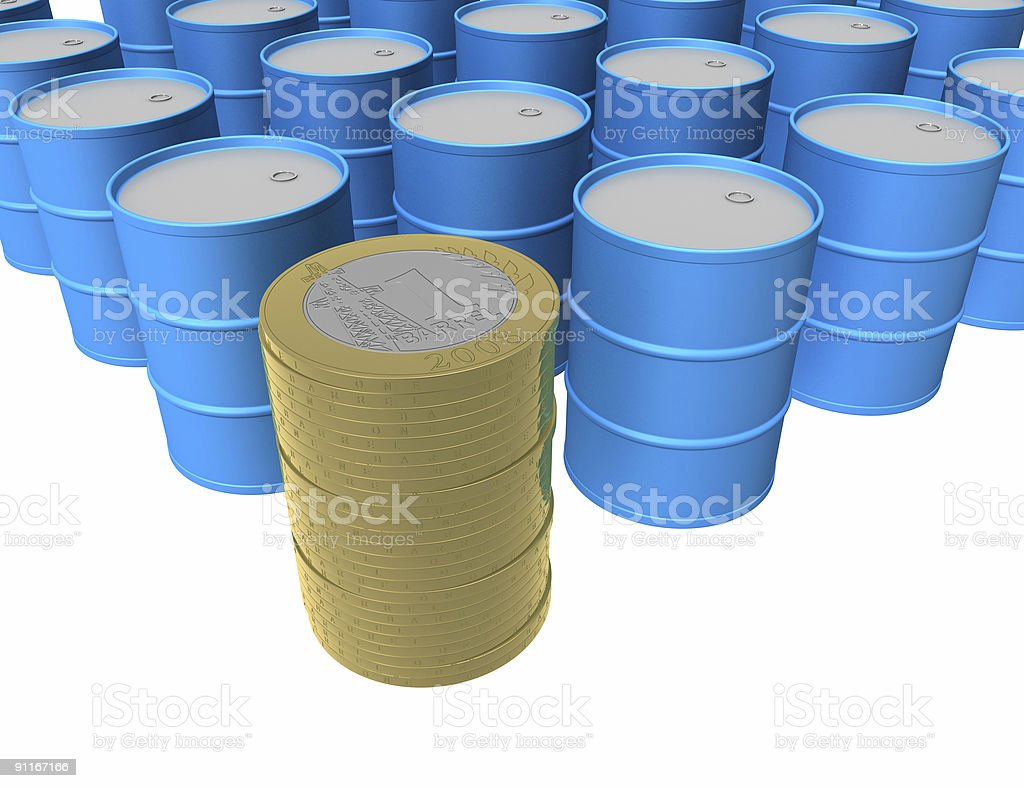 Petroleum currency royalty-free stock photo