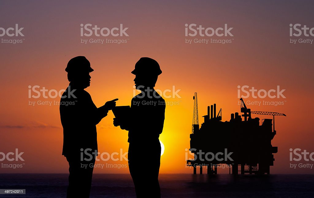 Petroleum engineer stock photo