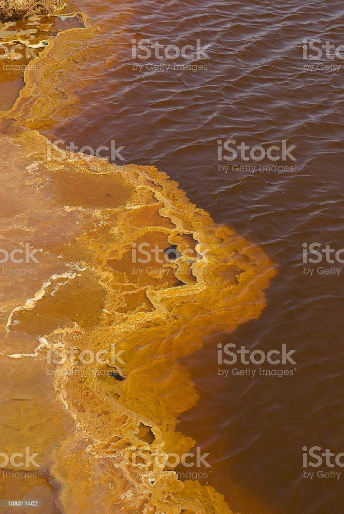 Petroleum Lake at Dallol volcano, Danakil Depression, Ethiopia royalty-free stock photo
