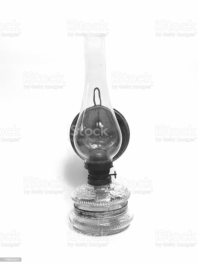 Petroleum lamp hook on the wall royalty-free stock photo