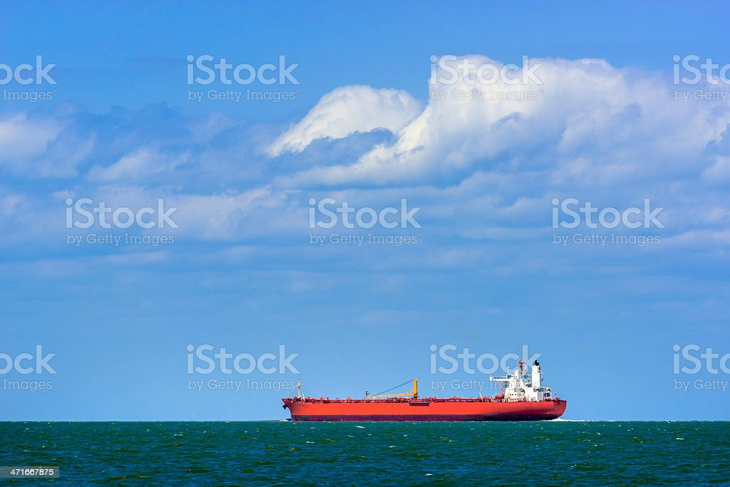 petroleum oil tanker ship - Gulf of Mexico, Texas City stock photo