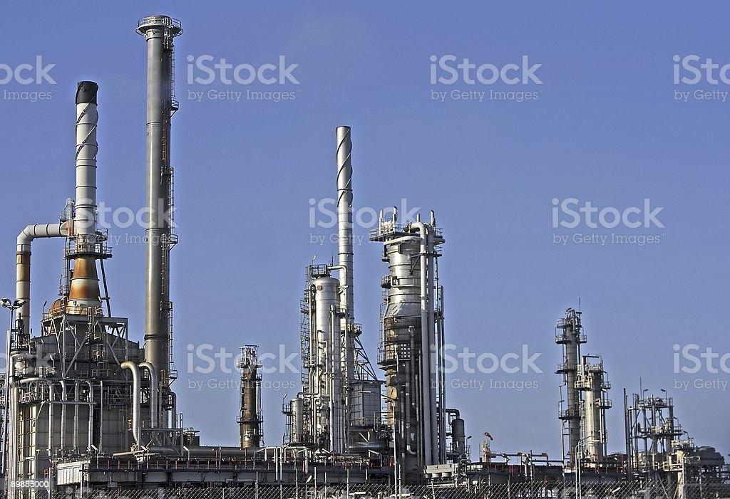 Planta de petróleo en Rotterdam foto de stock libre de derechos