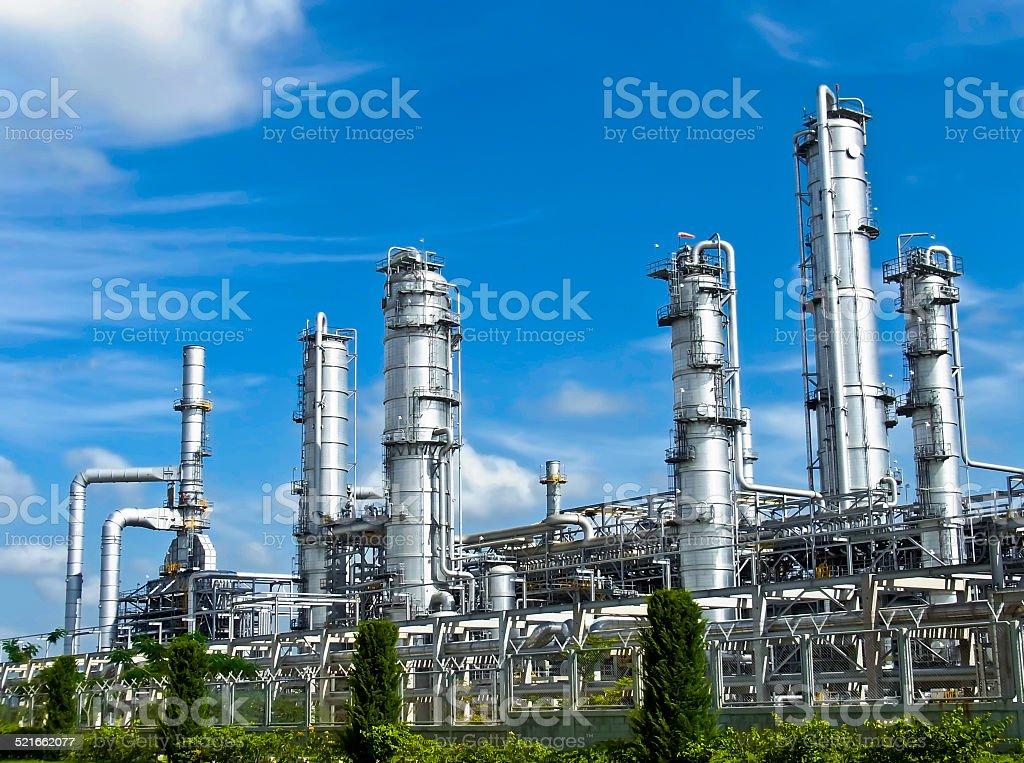 Petroleum Plant with Blue Sky stock photo