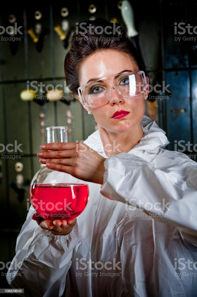 Petroleum researcher royalty-free stock photo