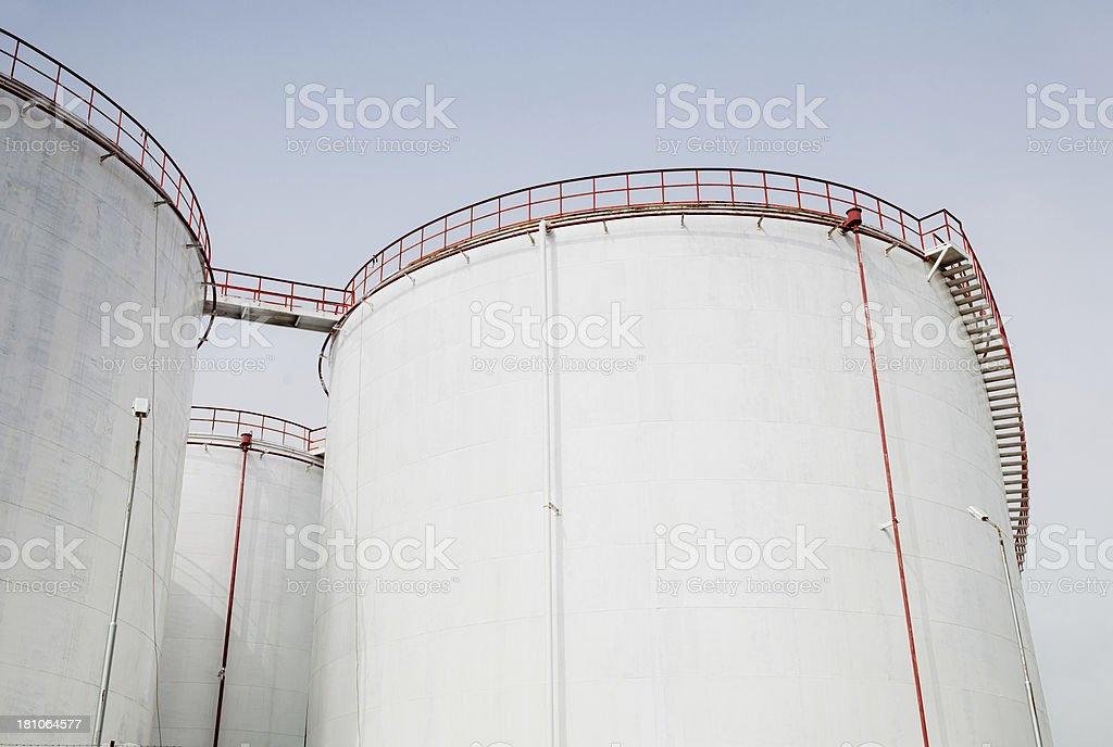 Petroleum storage tanks royalty-free stock photo