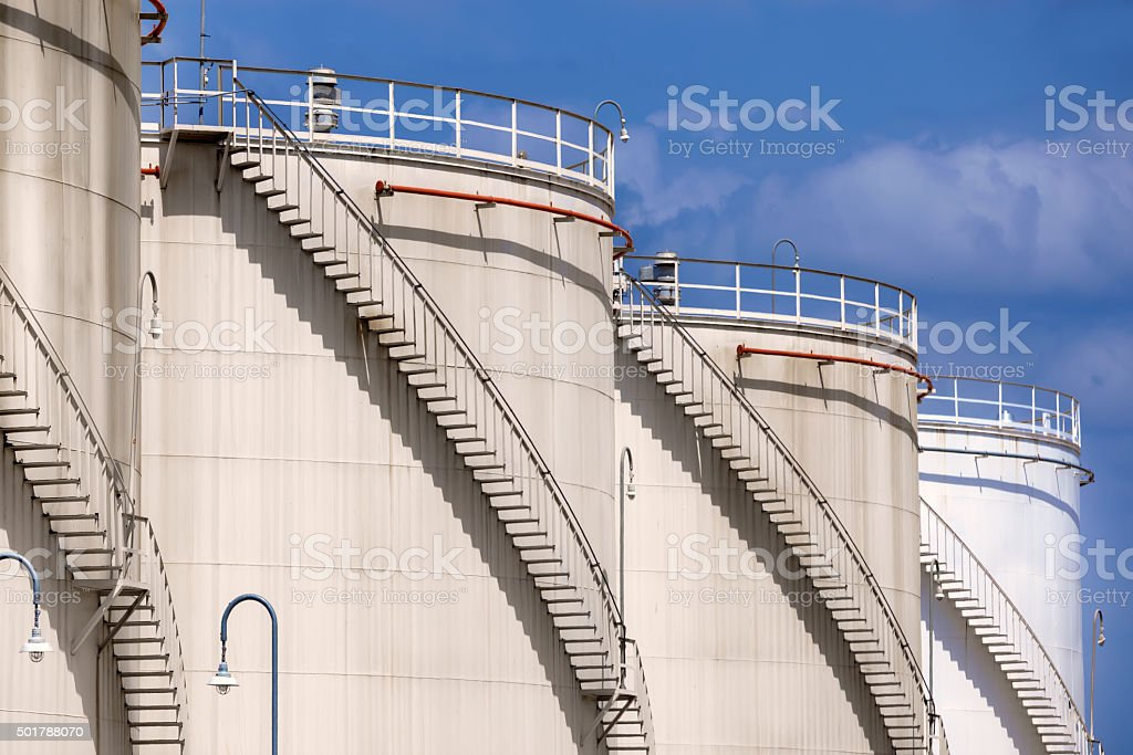 Petroleum Storage Tanks stock photo