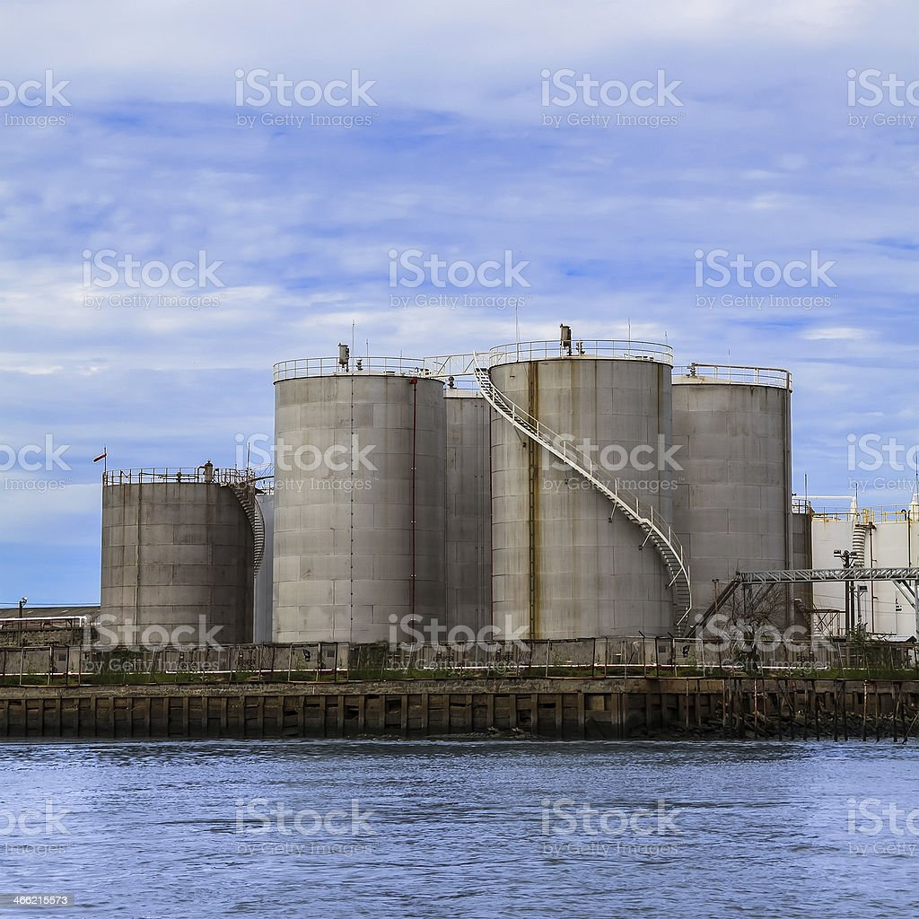 Petroleum Tanks royalty-free stock photo