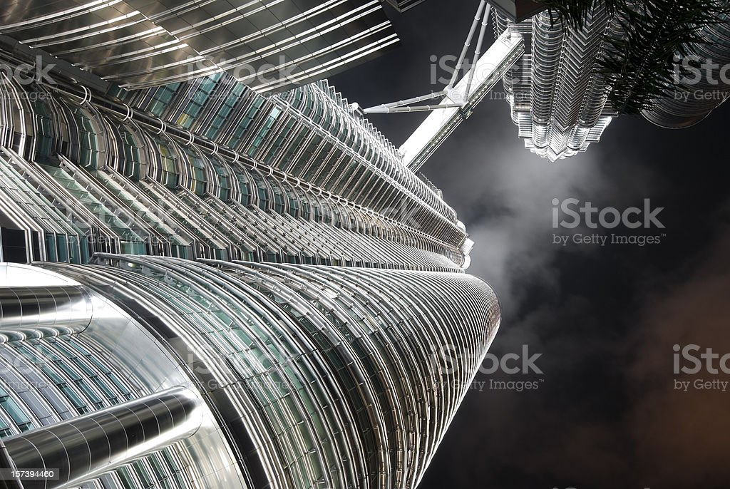 Petronas Towers Abstract View stock photo