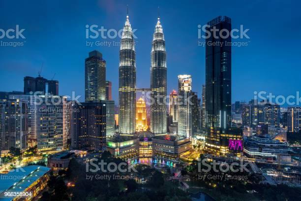 Petronas Towers By Night Kuala Lumpur Malaysia Stock Photo - Download Image Now