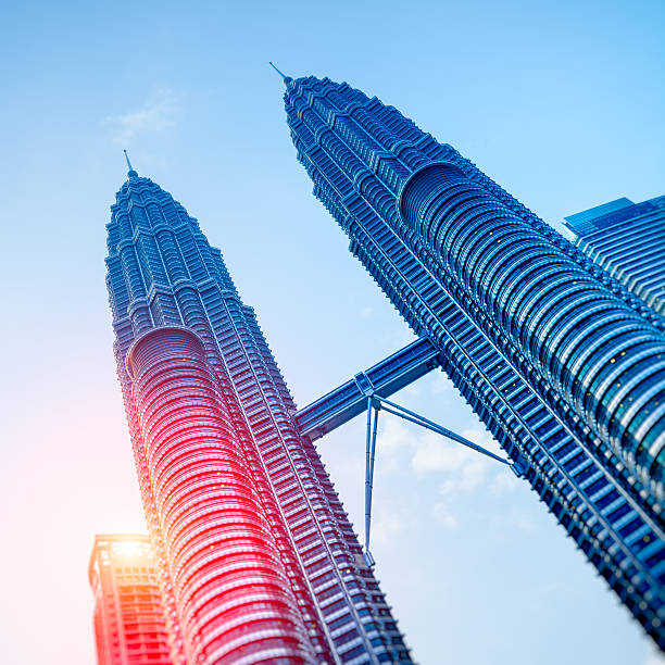 Petronas Towers, Kuala Lumpur - Malaysia. stock photo