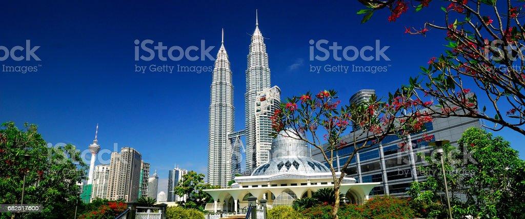 Petronas Towers & Skyline of Kuala Lumpur, Malaysia. royalty-free stock photo