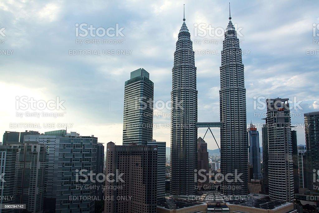 Petronas Twin Towers in Kuala Lumpur royaltyfri bildbanksbilder