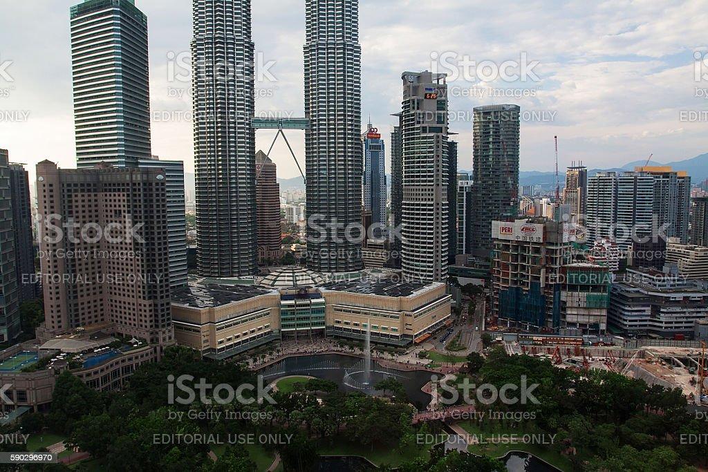 Башни Петронас в Куала-Лумпуре Стоковые фото Стоковая фотография