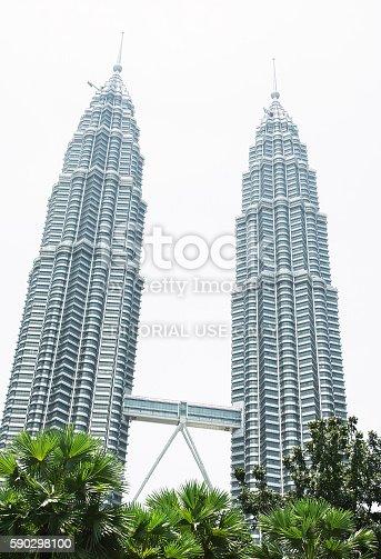 Petronas Twin Towers In Kuala Lumpur-foton och fler bilder på Affärsresa