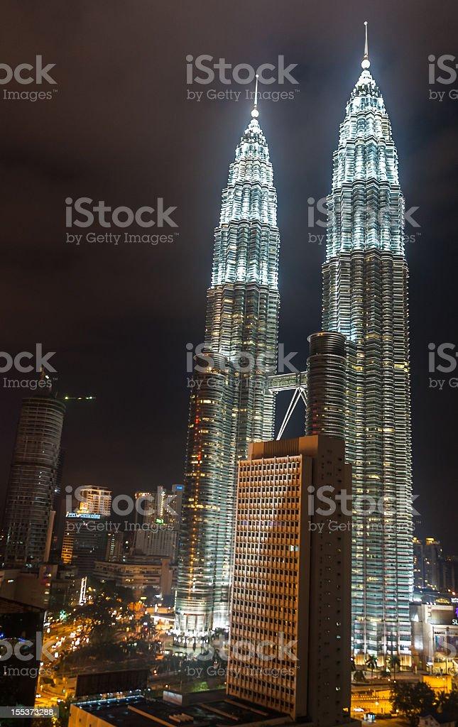Petronas Twin Towers in Malaysia royalty-free stock photo