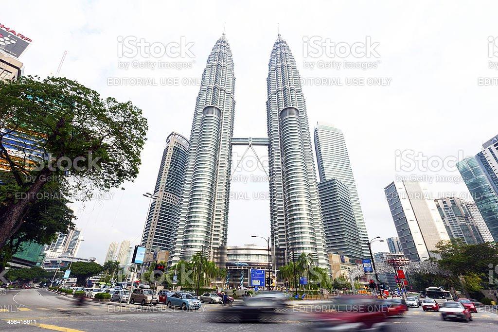Petronas Twin Towers, Kualalampur Malaysia royalty-free stock photo