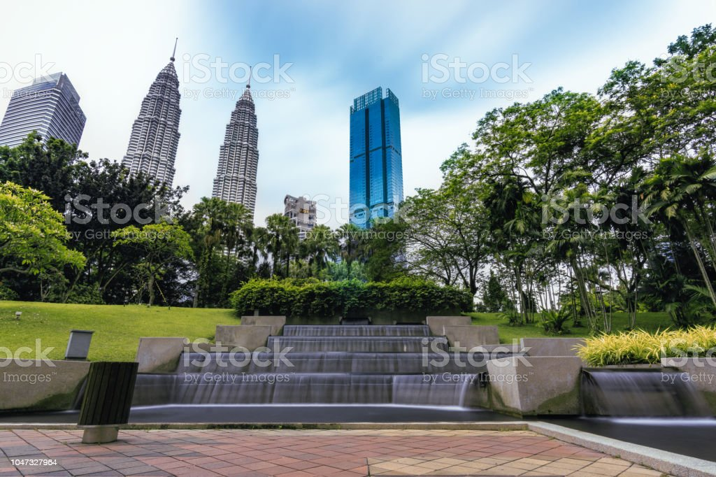 Petronas Twin Towers View Form The Klcc Park Stock Photo