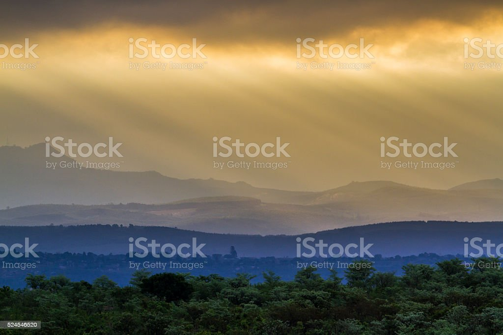 Petroriuskop landscape in Kruger National park, South Africa stock photo