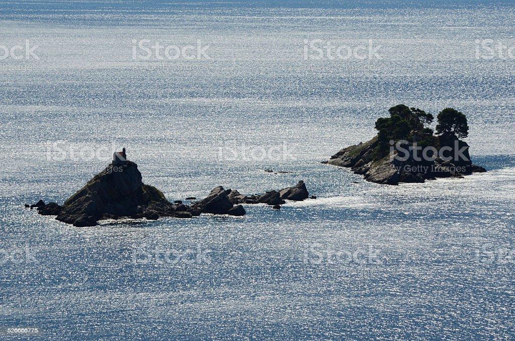 Petrovac na moru stock photo
