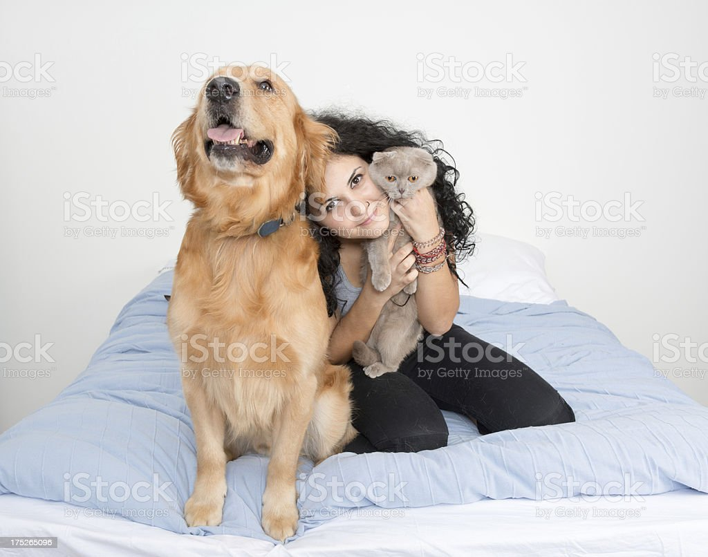 pets and owner royalty-free stock photo