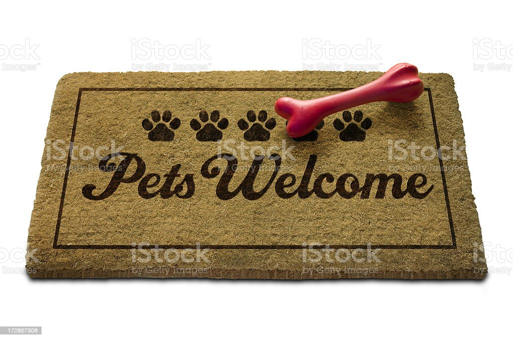 Pets Welcome Doormat royalty-free stock photo