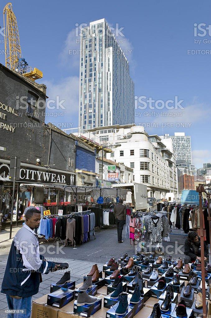 Petticoat Lane Market, London stock photo