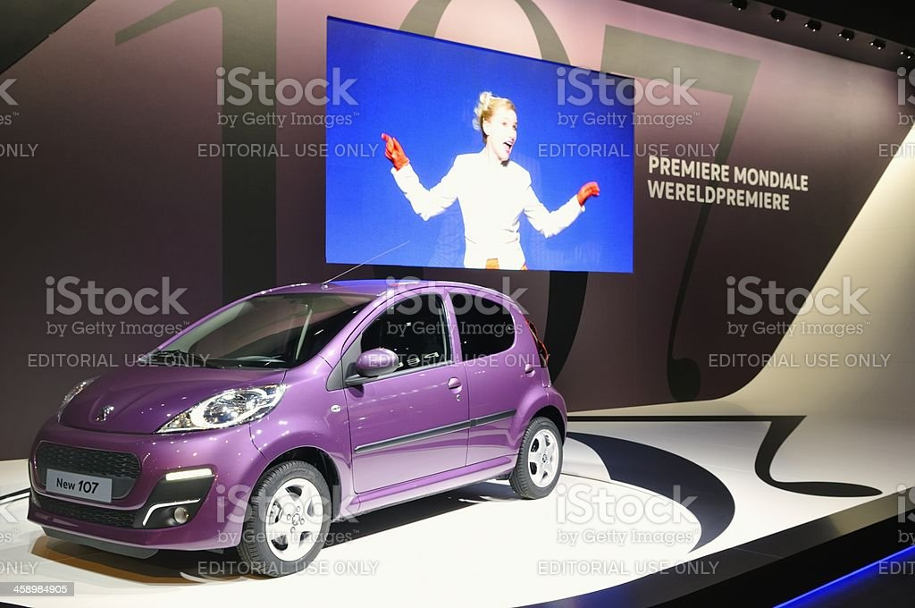 Peugeot 107 royalty-free stock photo