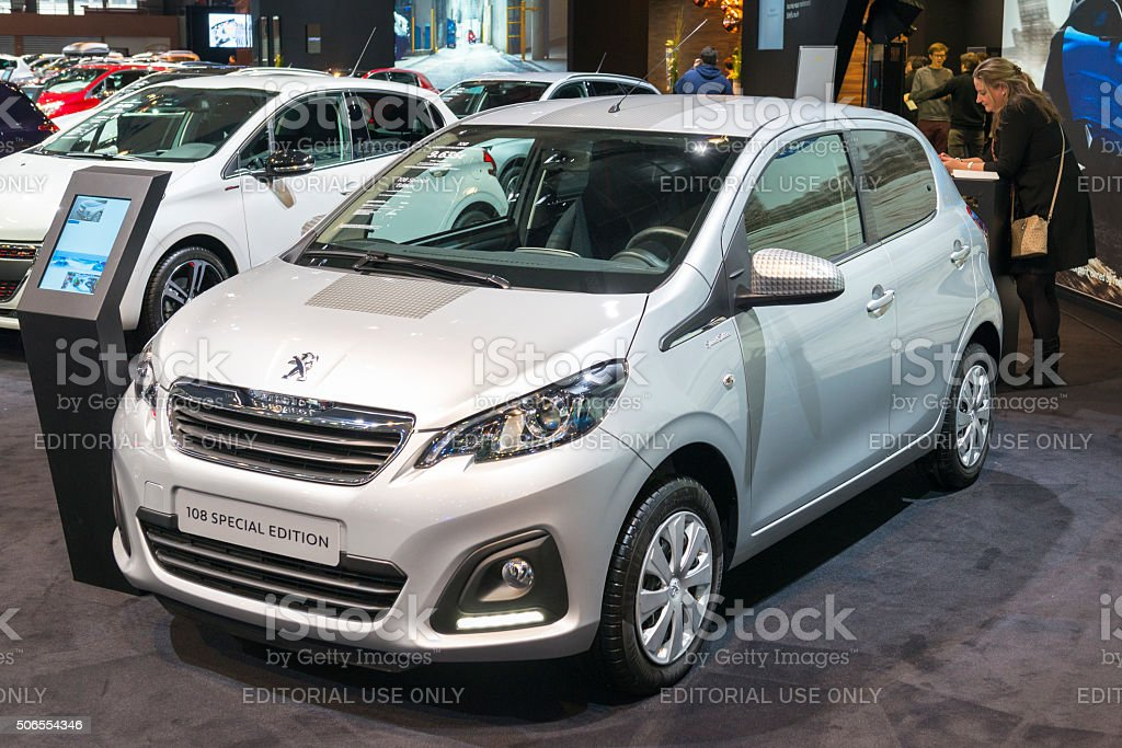 Peugeot 108 Special Edition compact city car stock photo