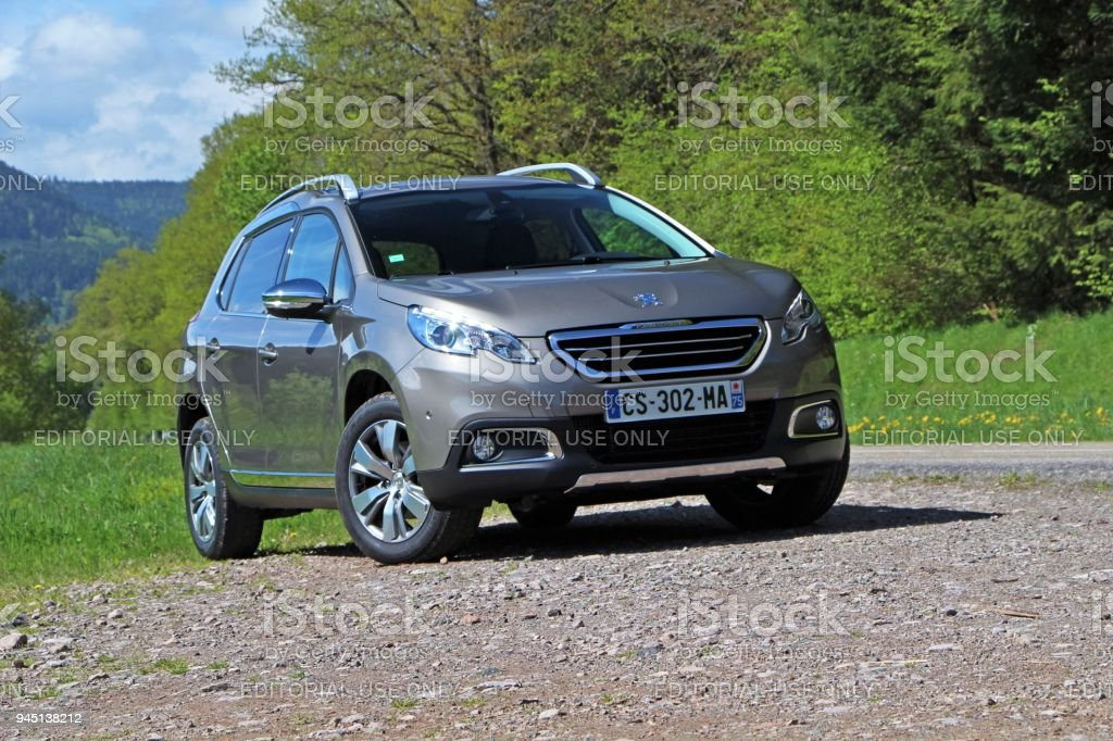 Peugeot 2008 - popular crossover from France stock photo