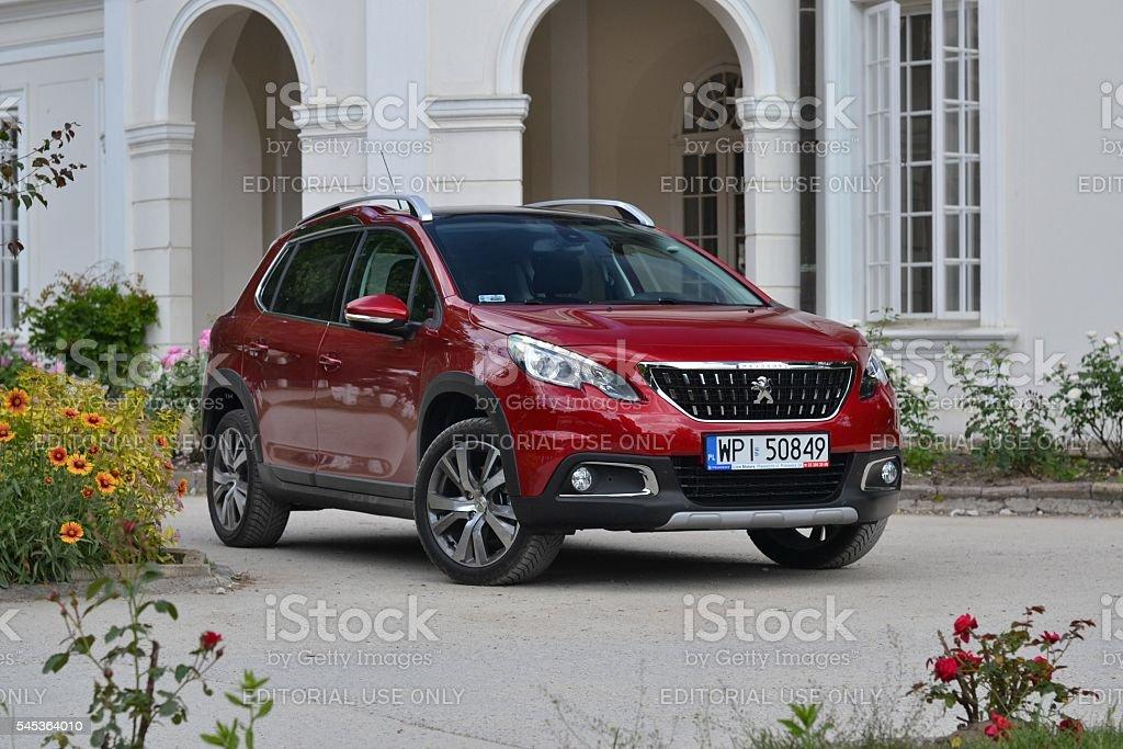 Peugeot 2008 - popular crossover stock photo