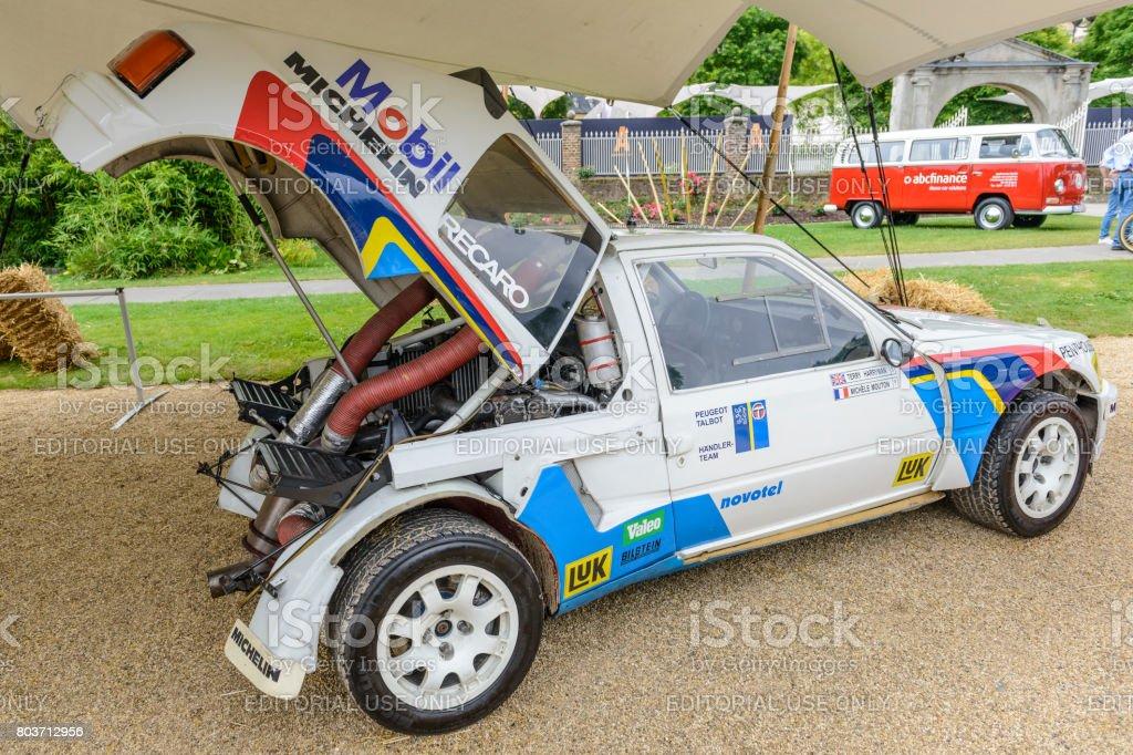 Peugeot 205 T16 Gruppe B Rallyeauto Stock Fotografie Und Mehr Bilder